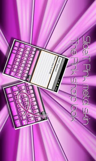 SlideIT Pink metal skin