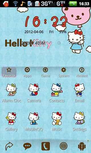 hello kitty-安卓主题