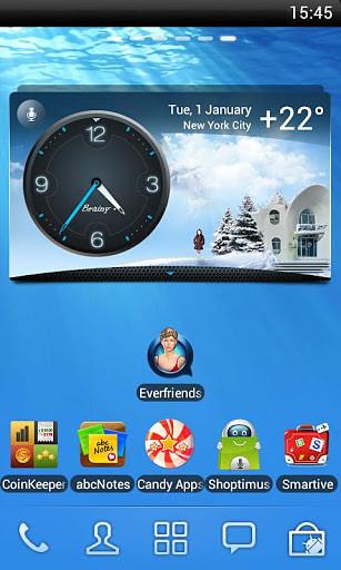 天气与时钟部件
