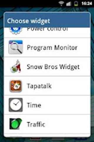 Snow Bros Widget