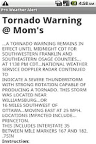 Pro Weather Alert BETA