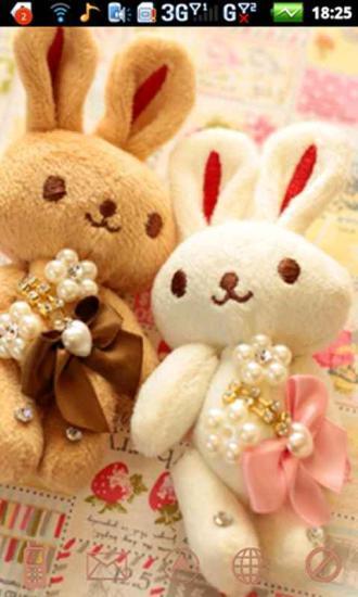 情侣兔--桌面主题