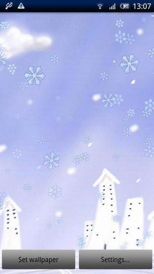 美丽的雪花动态壁纸