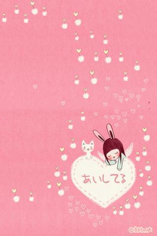 卡通情侶可愛的壁紙