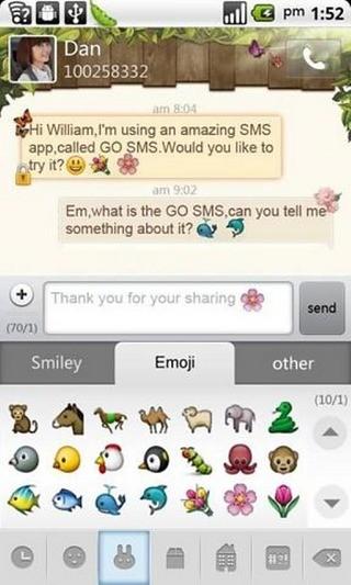 GO短信表情插件