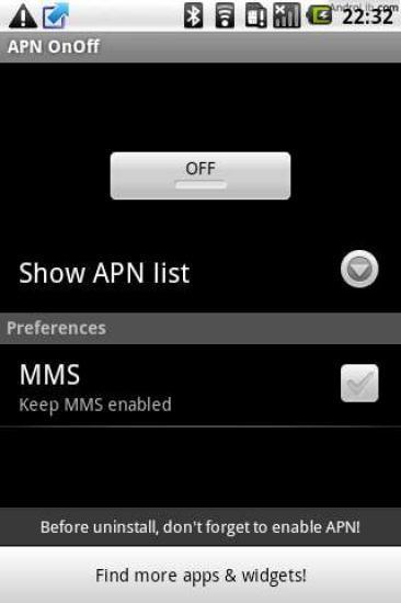 网络连接开关(APN OnOff)