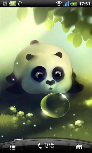 熊猫噗通动态壁纸