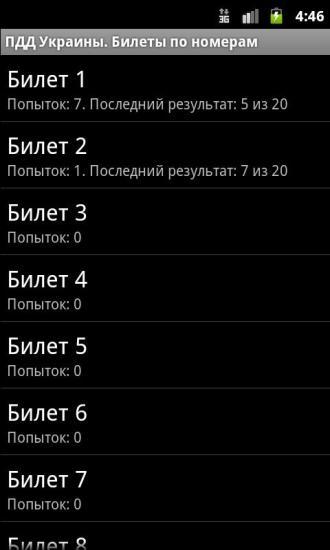 ПДД Украины Билеты