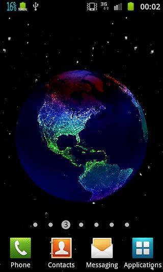 3D地球画面效果动态壁纸