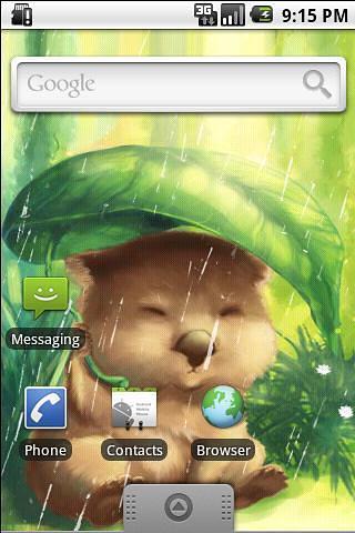 遮雨袋熊动态壁纸