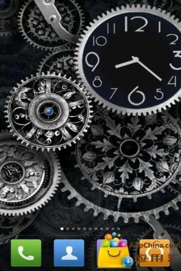 黑色时钟壁纸