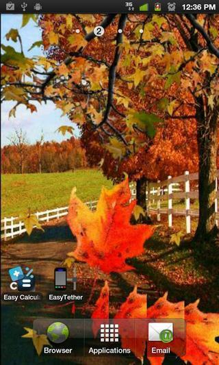秋天落叶动态壁纸2