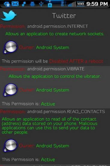 Android应用权限移除