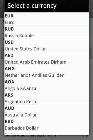 汇率所有的货币