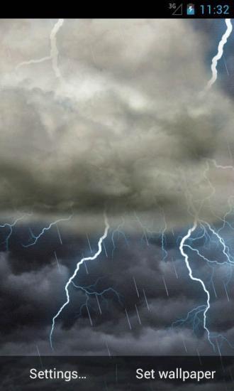 雷电乌云动态壁纸