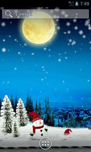 圣诞雪花夜