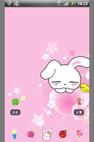 可爱的小粉兔-桌面主题