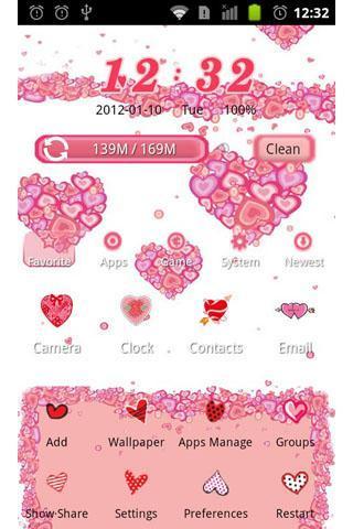 粉红爱恋--安卓主题