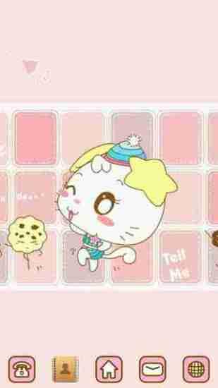 GO桌面主题-粉色KITTY
