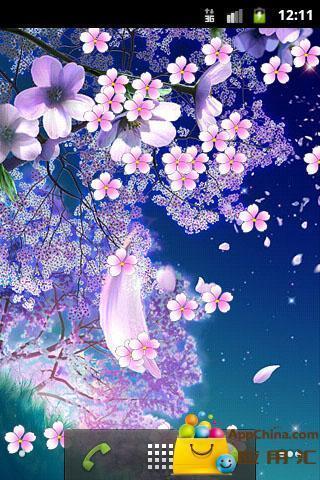浪漫櫻花動態壁紙