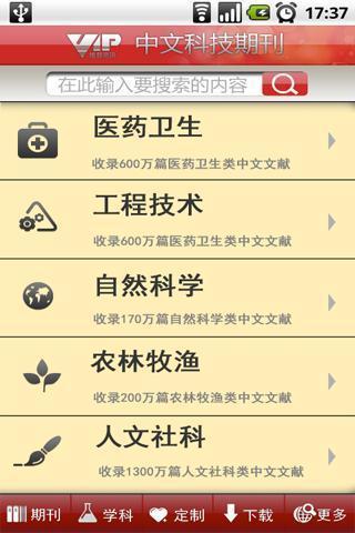 中文科技期刊