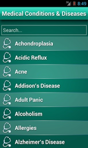 Diseases Dictionary - Medical